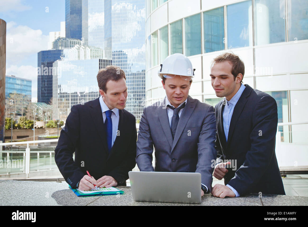 team of architects and engineer - Stock Image