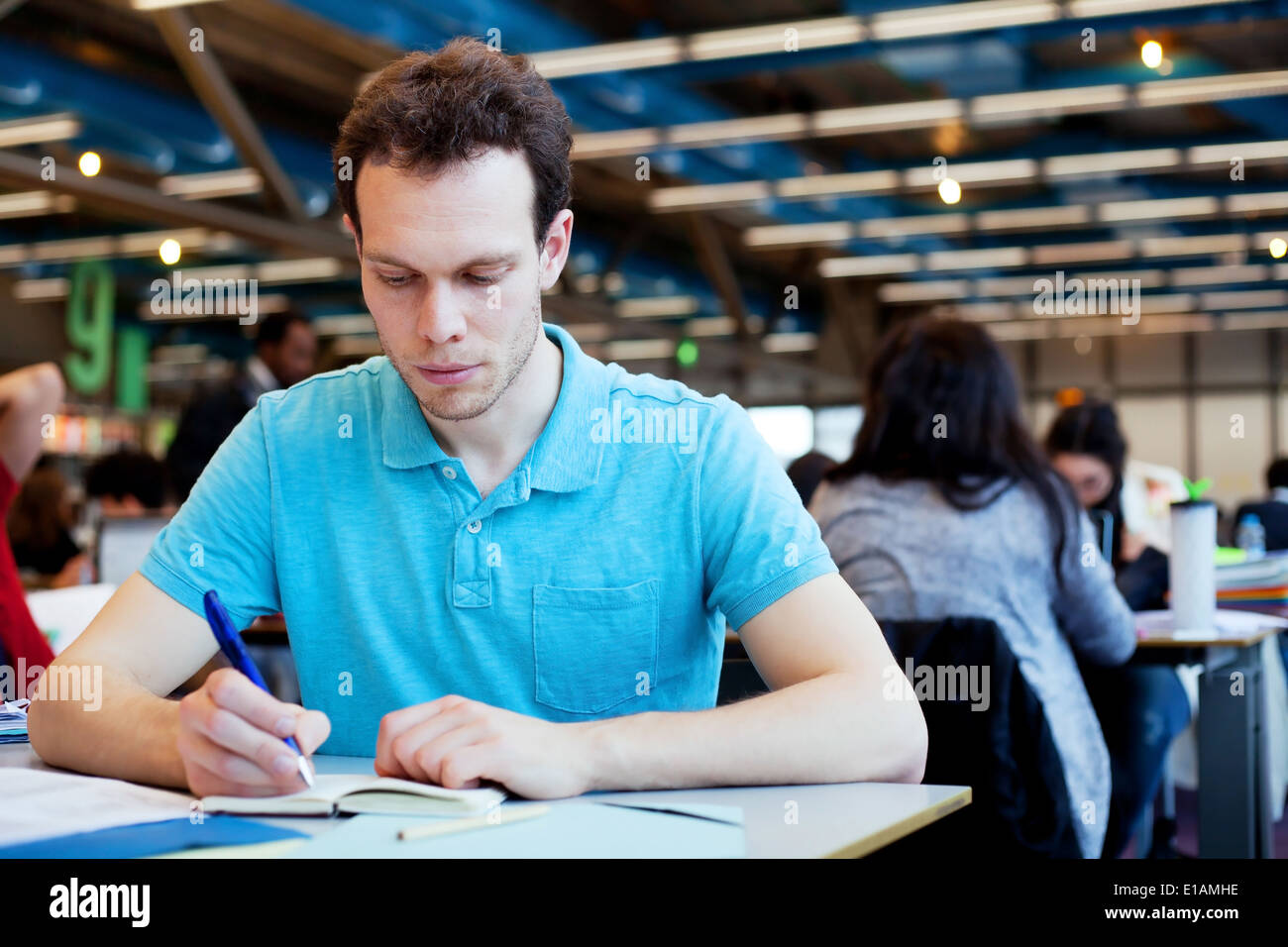 student at university - Stock Image