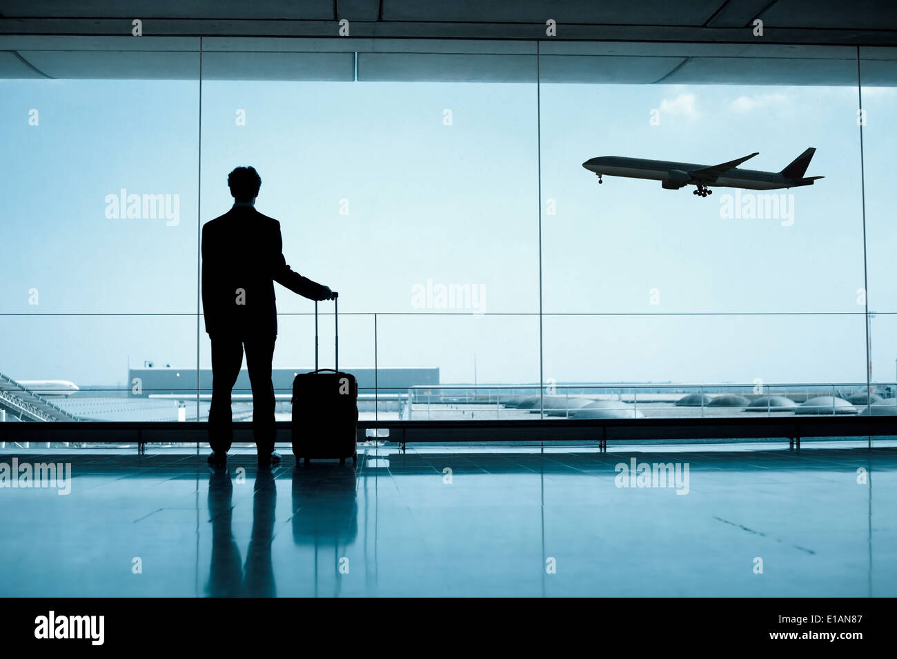 businessman at the airport - Stock Image