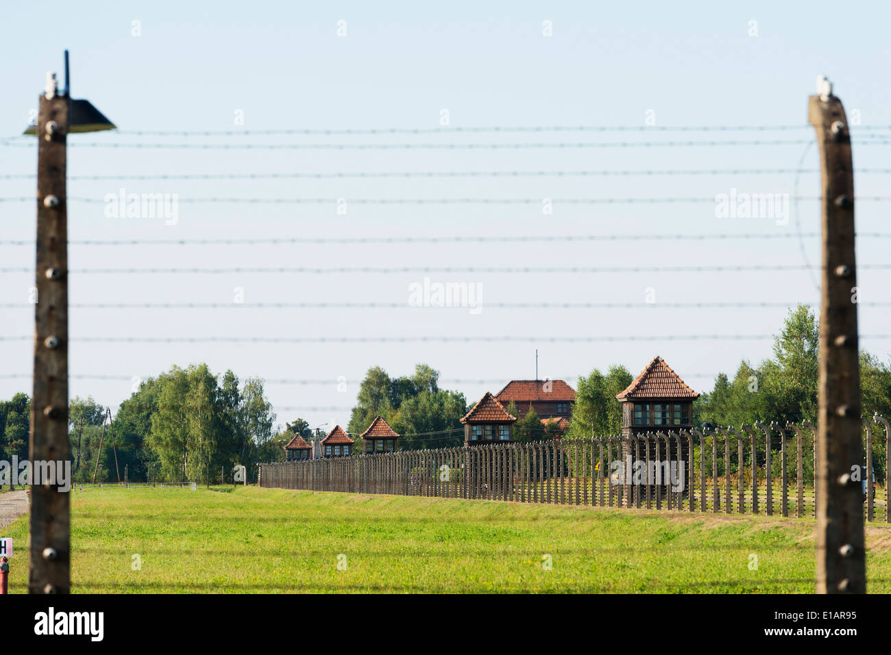 Europe, Poland, Silesia, Oswiecim, Auschwitz-Birkenau, German Nazi Concentration Camp and Extermination Camp, Unesco - Stock Image