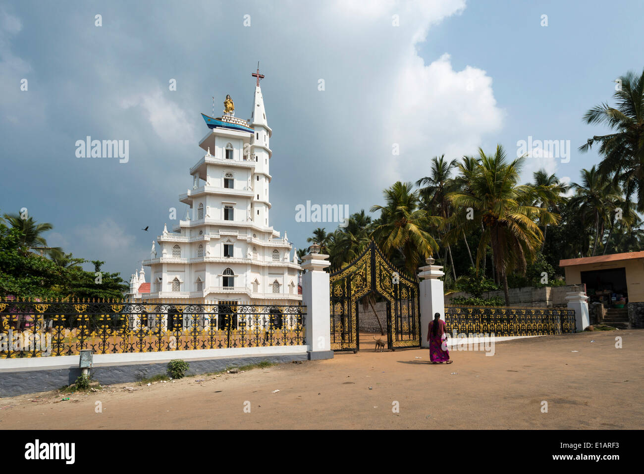 St Mary's Church, Vizhinjam, Kerala, India - Stock Image