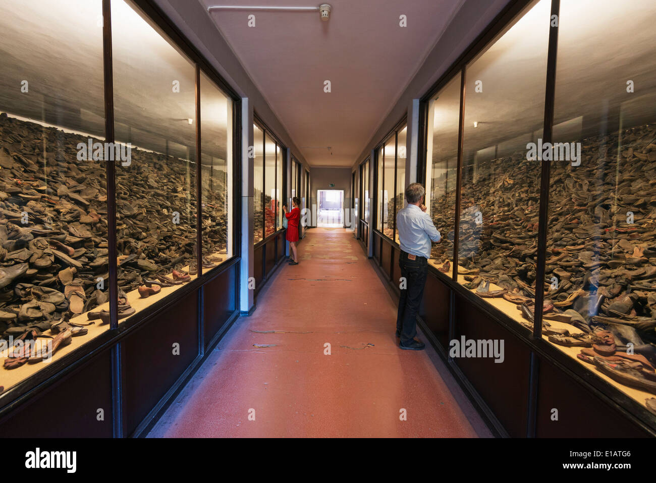 Europe, Poland, Silesia, Oswiecim, exhibition at Auschwitz-Birkenau, German Nazi Concentration Camp and Extermination Camp - Stock Image