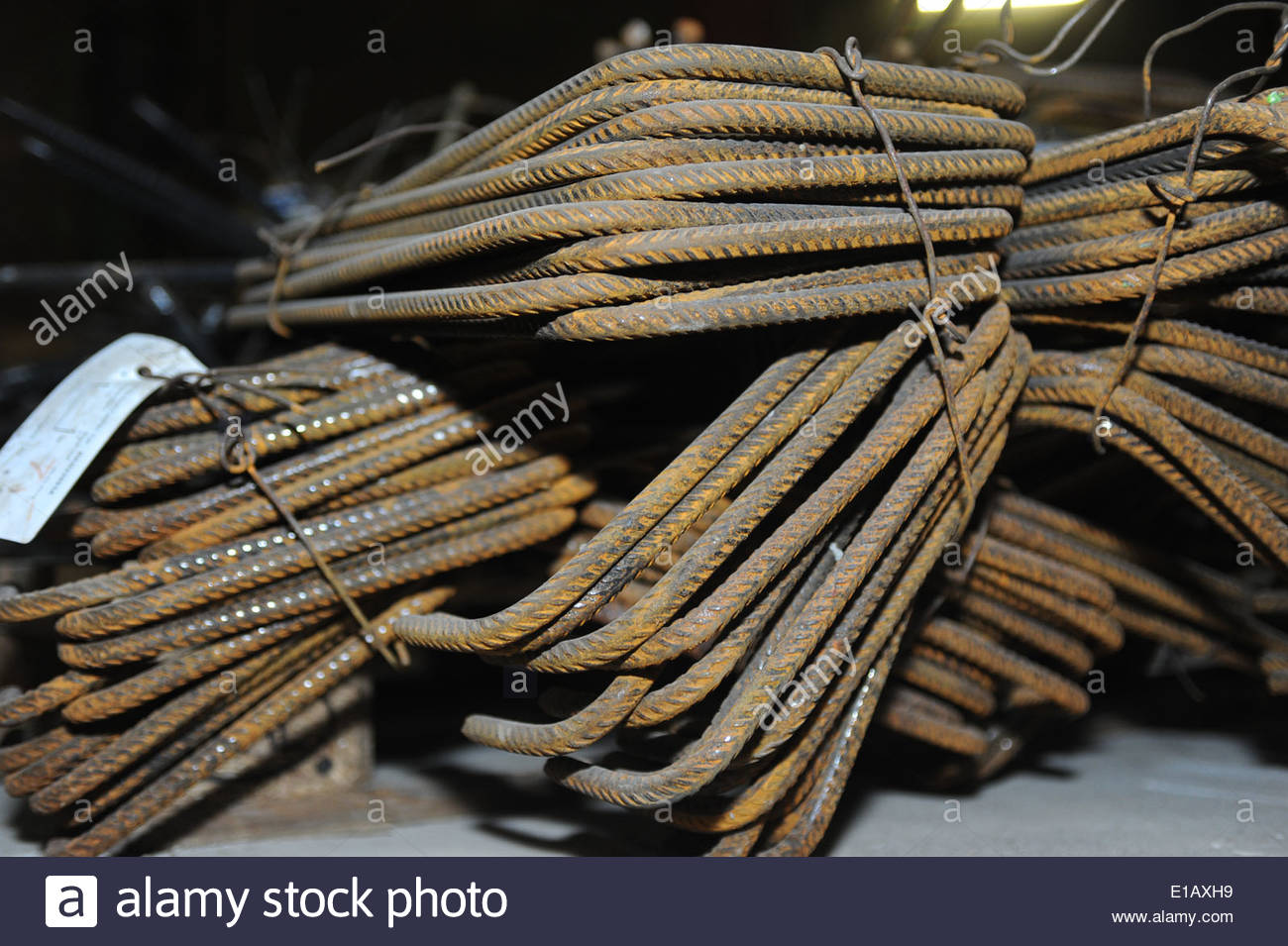 Dag van de Bouw / Open Building Site Day Amsterdam Piles of rebar for reinforced concrete - Stock Image