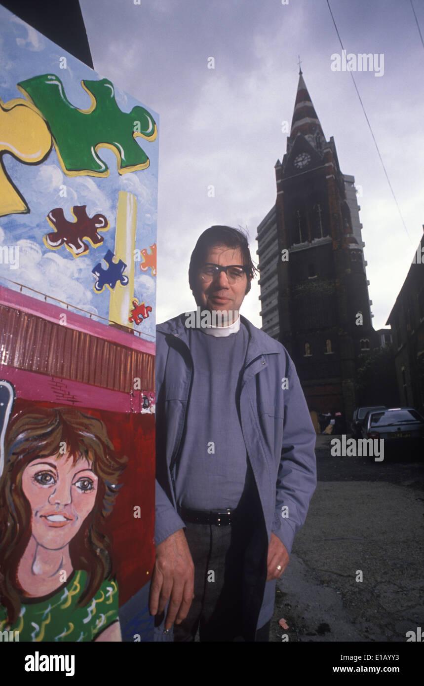 Rev Michael Wimshurst, St Pauls Battersea South London UK HOMER SYKES - Stock Image