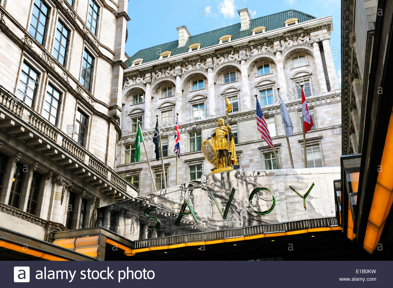 The Savoy Hotel, London, England, UK - Stock Image