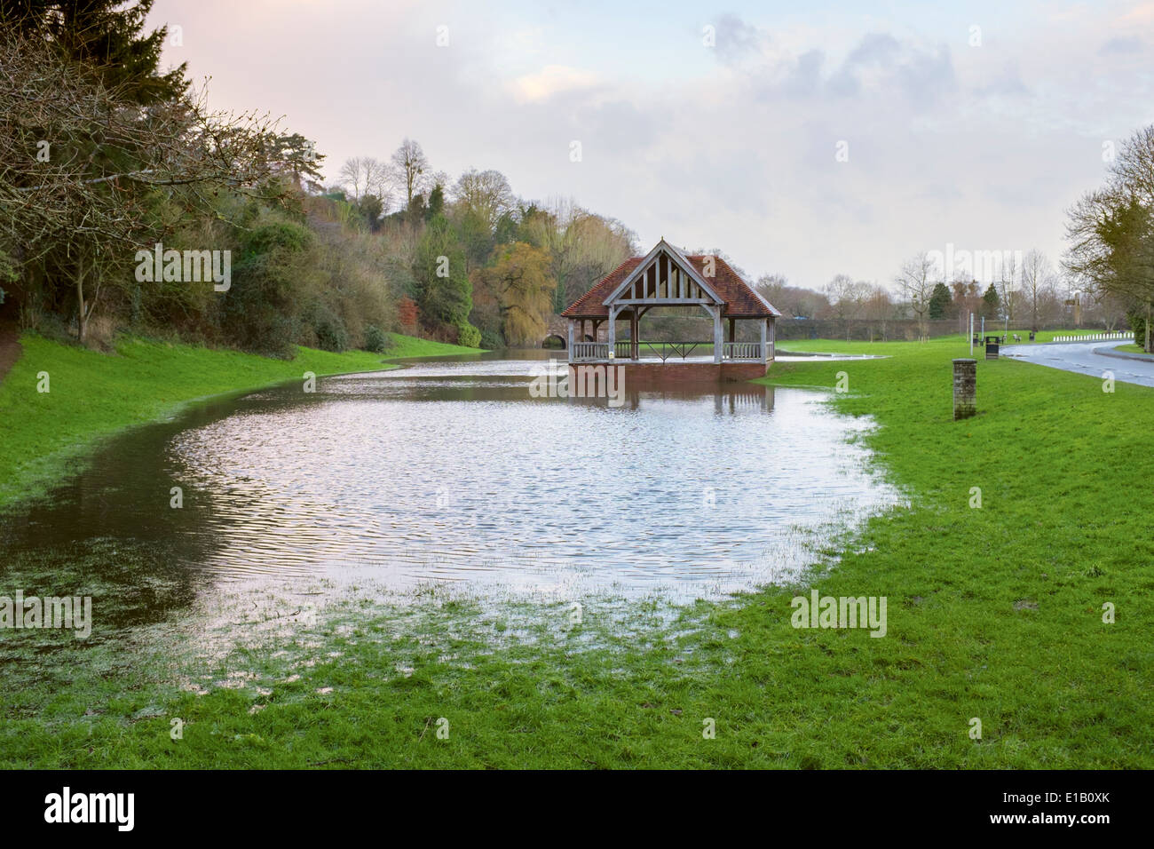 The Bandstand or Outdoor Pursuits building in Ross-On-Wye, Herefordshire. Stock Photo