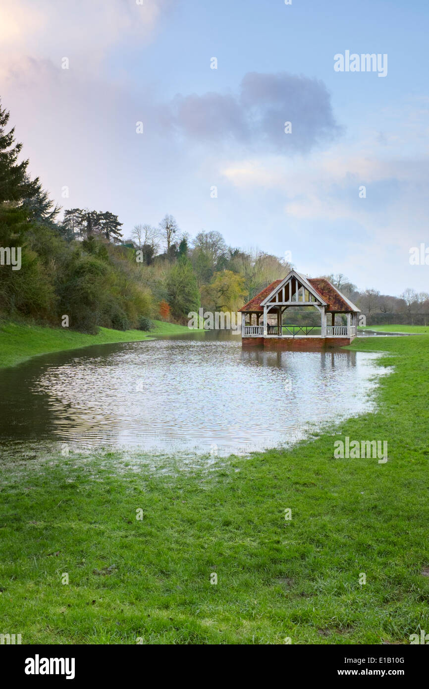 The Bandstand or Outdoor Pursuits building in Ross-On-Wye, Herefordshire. - Stock Image