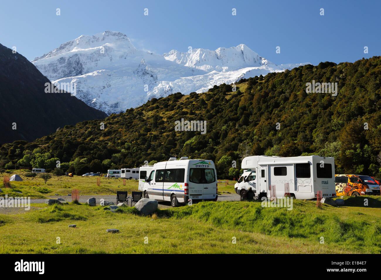 White Horse Hill campsite - Stock Image