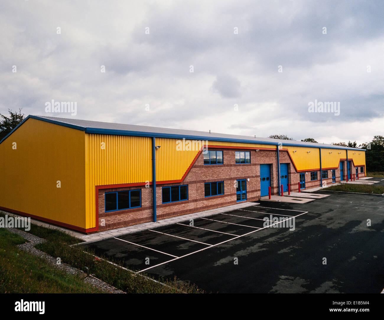 Advance Factory Units, Wales - Stock Image