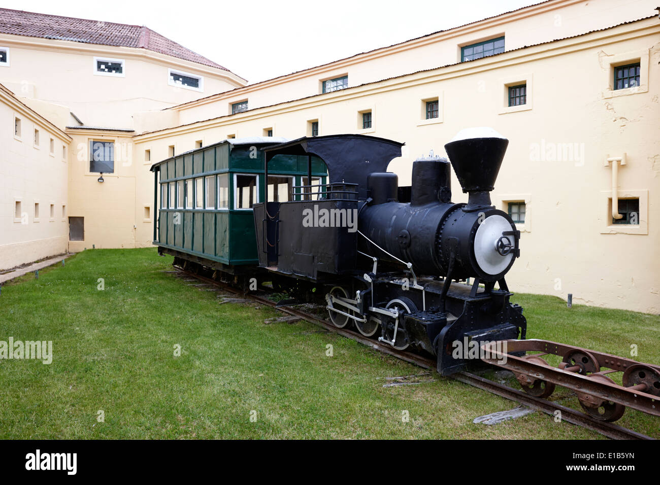 old prisoners train at the maritime museum presidio museo maritimo Ushuaia Argentina - Stock Image