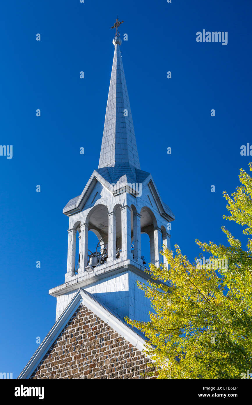 The St. Jovite Church in Mont-Tremblant Quebec, Canada. - Stock Image