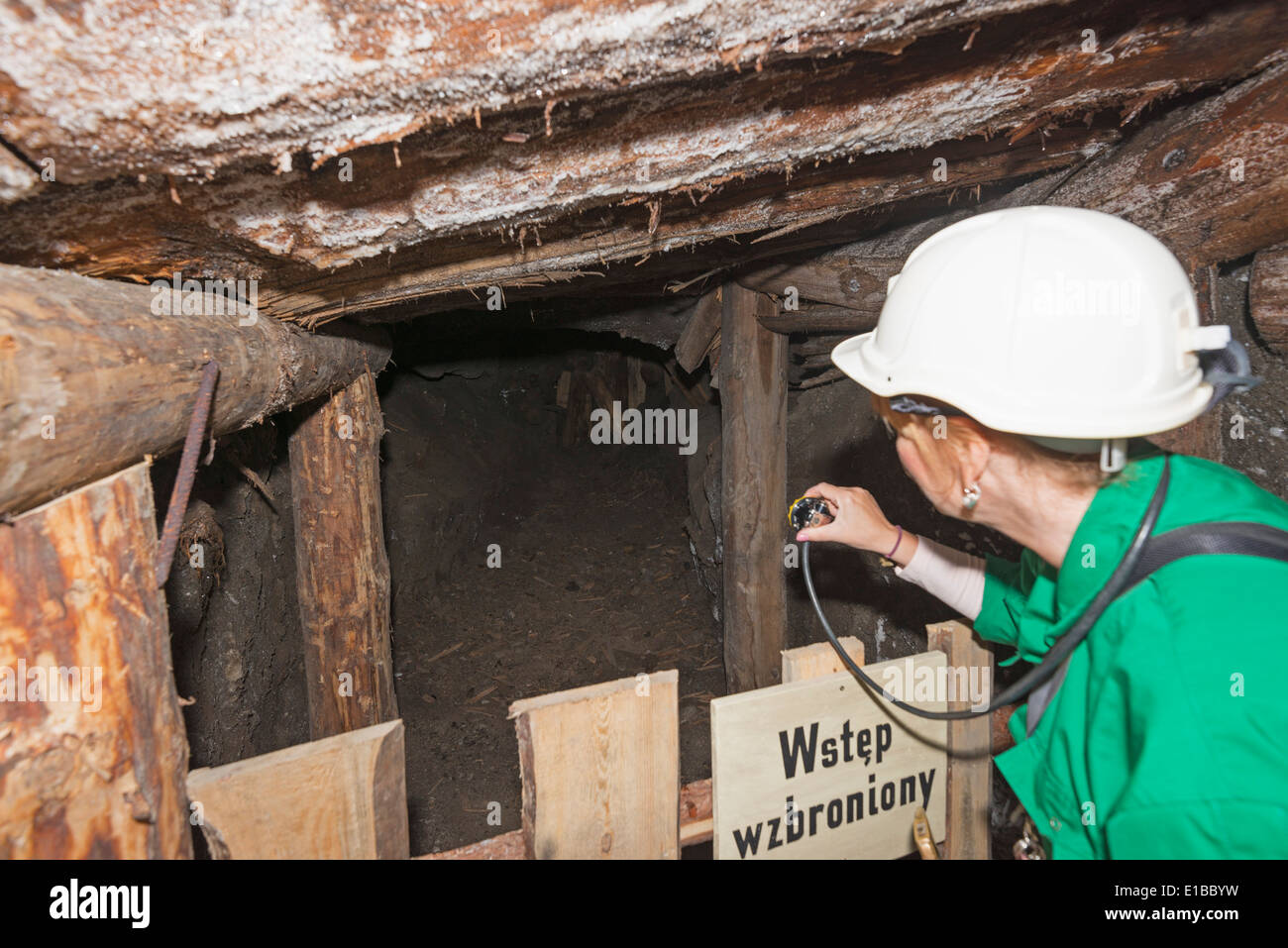 Europe, Poland, Malopolska, Krakow, Wieliczka Salt Mine, Miners route, Unesco site - Stock Image