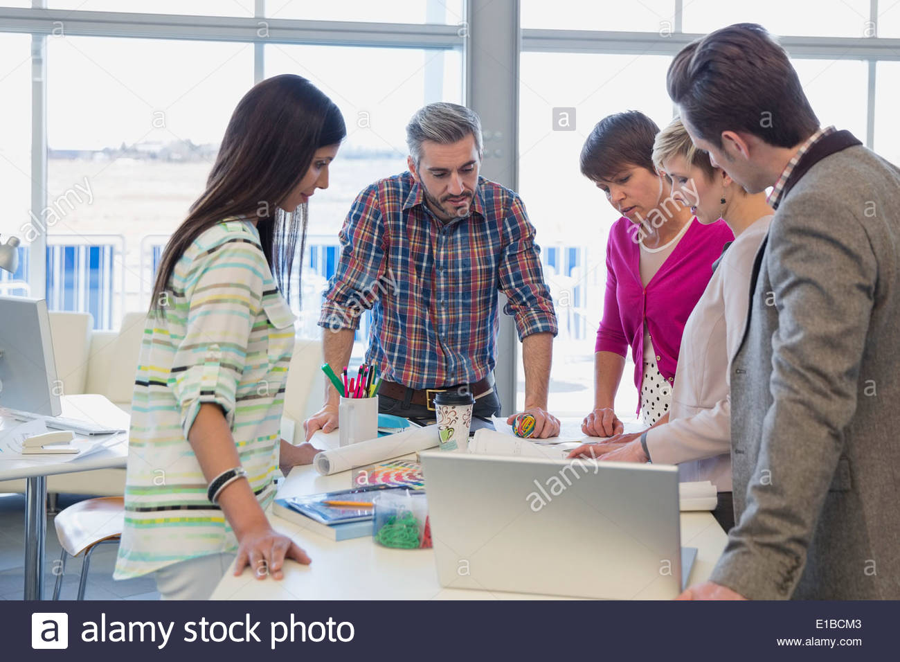Creative business people meeting in office - Stock Image