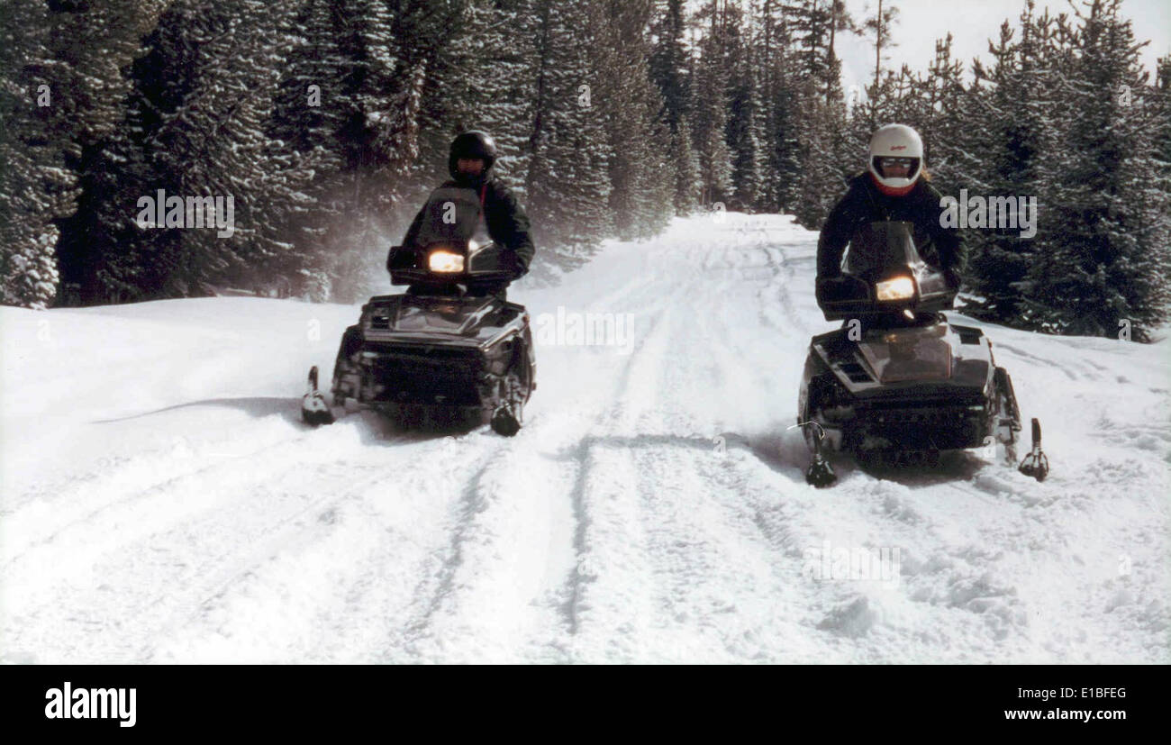 Snowmobilers 03 fthrd Stock Photo