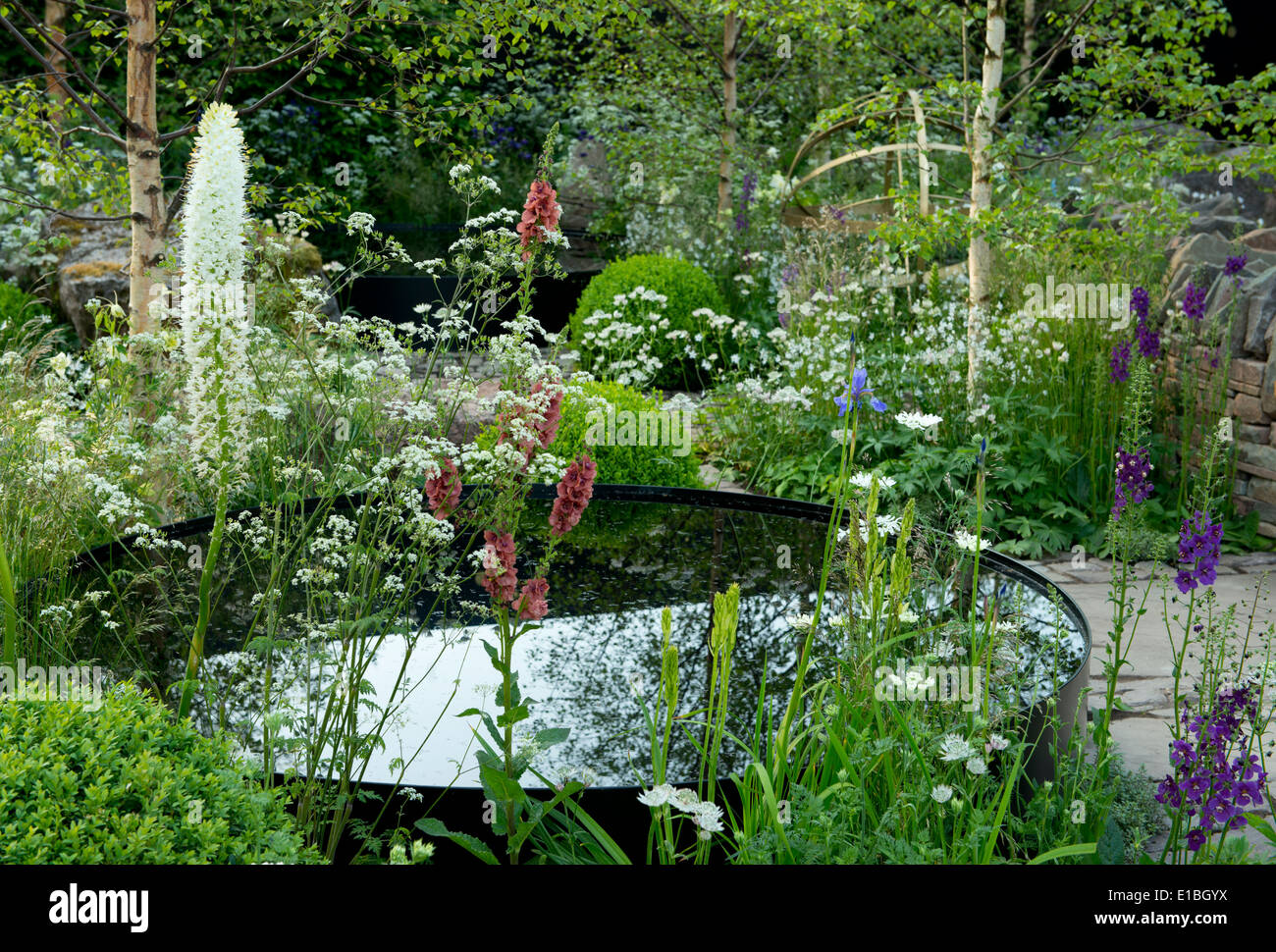 A section of the Vital Earth Night Sky Garden at the Chelsea Flower Show, London, UK - Stock Image