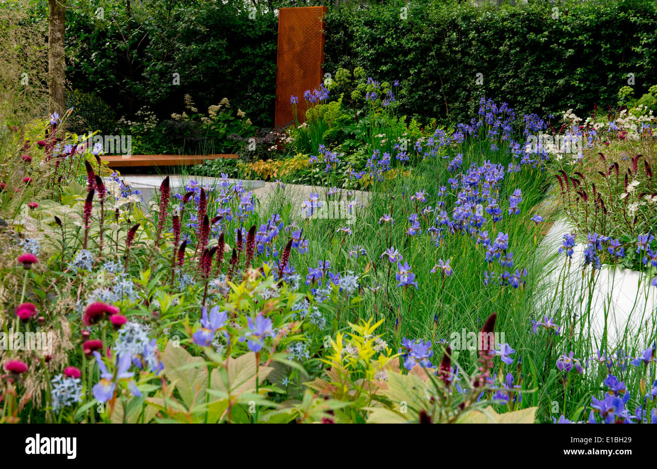 The RBC Waterscape Garden at the RHS Chelsea Flower Show 2014, London, UK - Stock Image