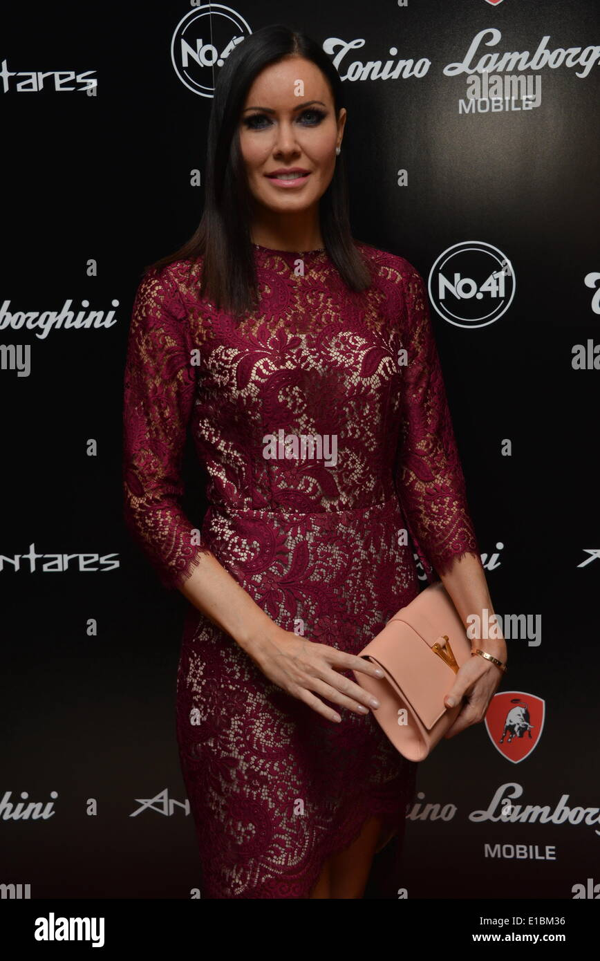 Mayfair, London, UK. 29th May, 2014. Linzi Stoppard attends the launch of the Tonino Lamborghini Antares Smartphone at No. 41 Mayfair on May 29, 2014 in London, England. Credit:  See Li/Alamy Live News - Stock Image