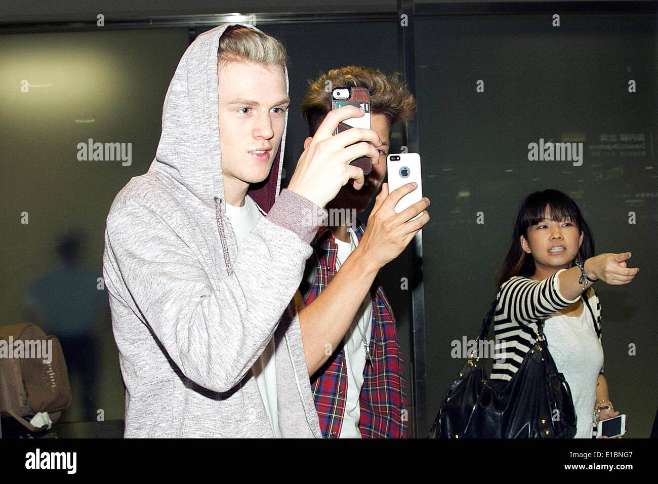 Chiba Japan 30th May 2014 L To R Tristan Evans And James Mcvey