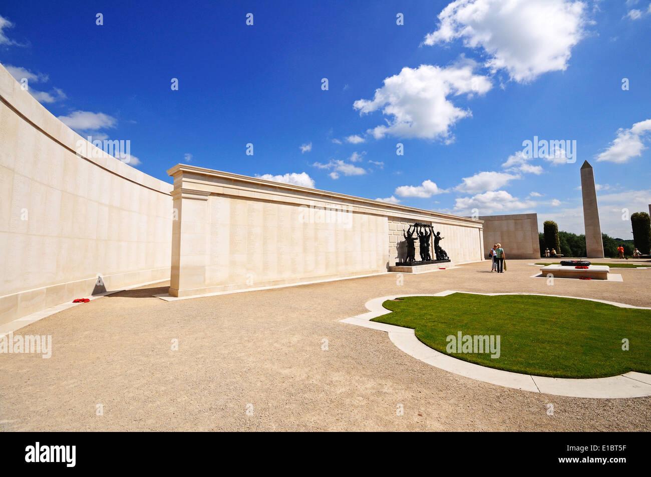 View inside the inner circle of the Armed Forces Memorial, National Memorial Arboretum, Alrewas, UK. - Stock Image