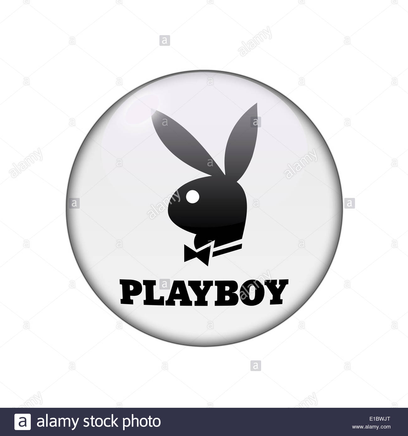 Playboy icon logo isolated app button - Stock Image