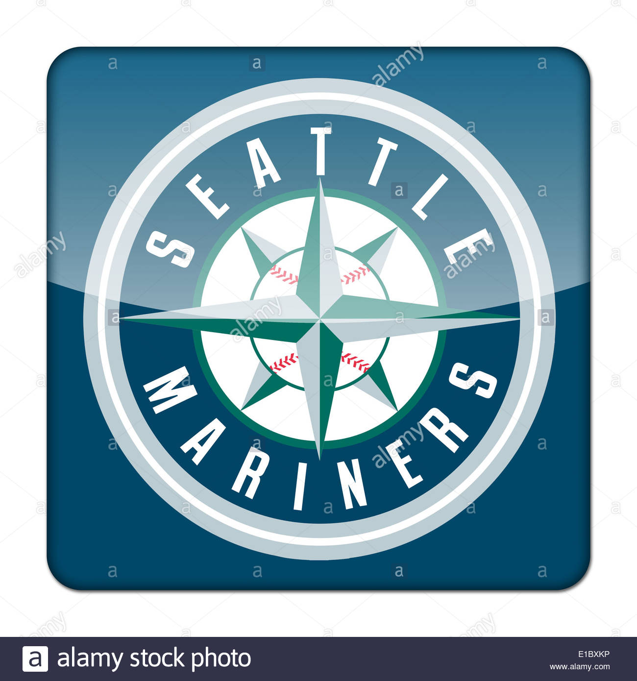 Seattle Mariners Icon Logo Isolated App Button Stock Photo 69718538