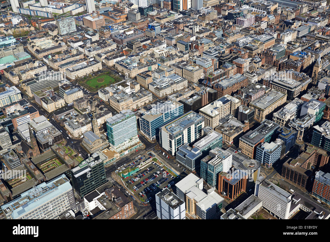The business district of Glasgow City Centre from the air, Central Stock Photo: 69719159 - Alamy