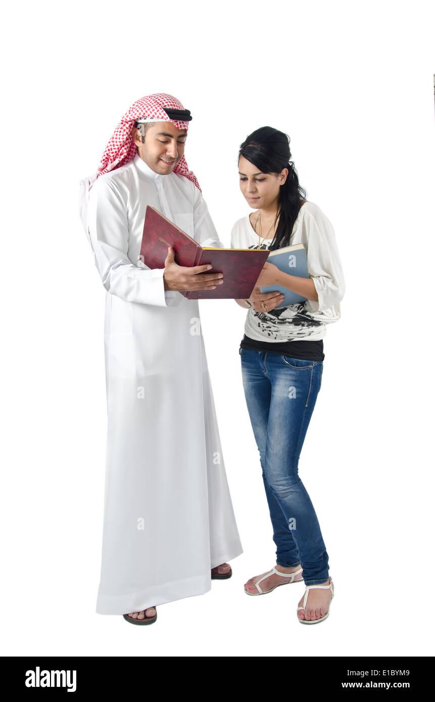 Arab College Students Stock Photo