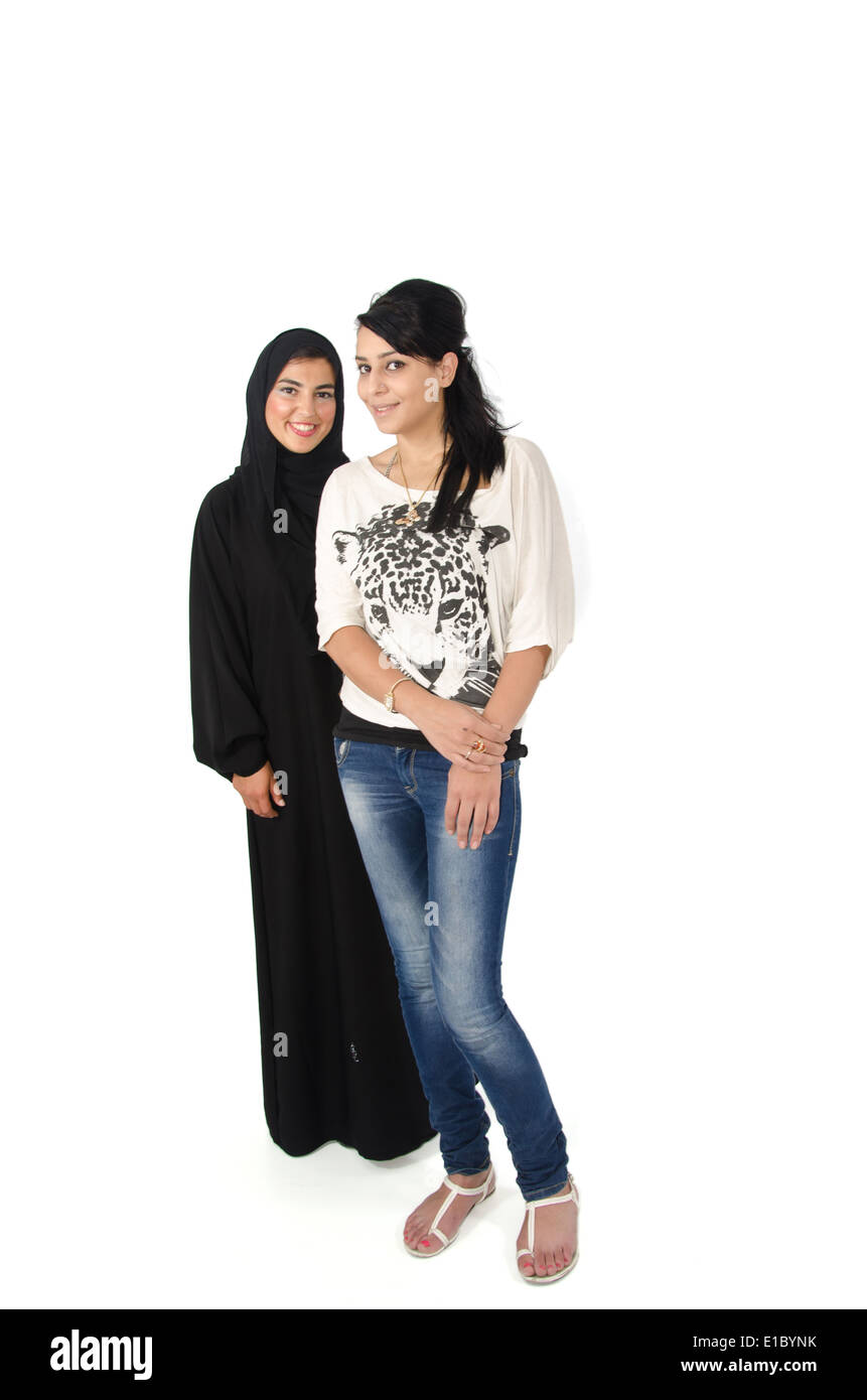 Young Arab Females Stock Photo