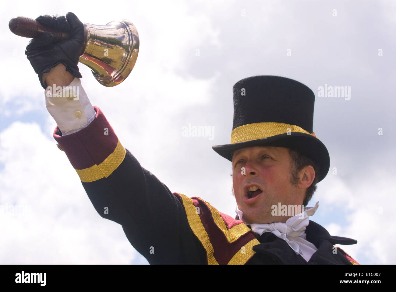Town Crier, Haslemere, Surrey, UK. - Stock Image