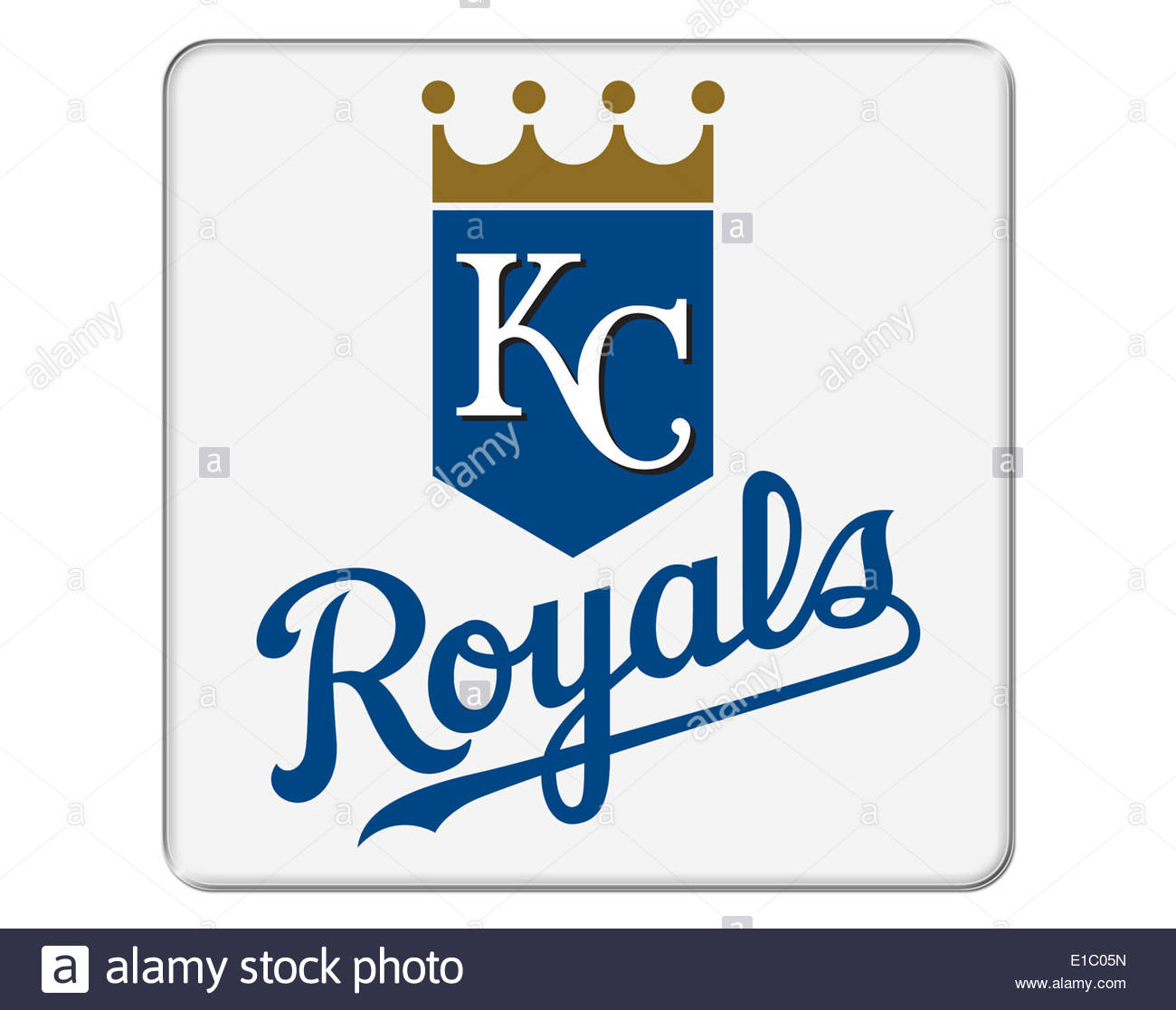 Kansas City Royals icon logo isolated app button - Stock Image