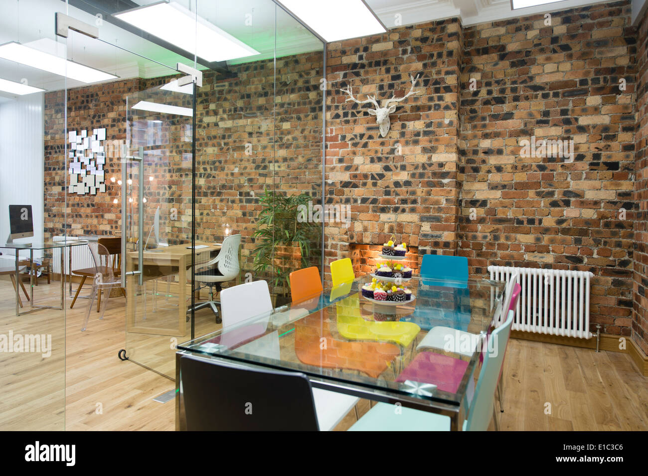 estate agent office design. A Modern Clean Light Airy Open Plan Estate Agent\u0027s Office Interior, Bare Brick Wall UK Agent Design