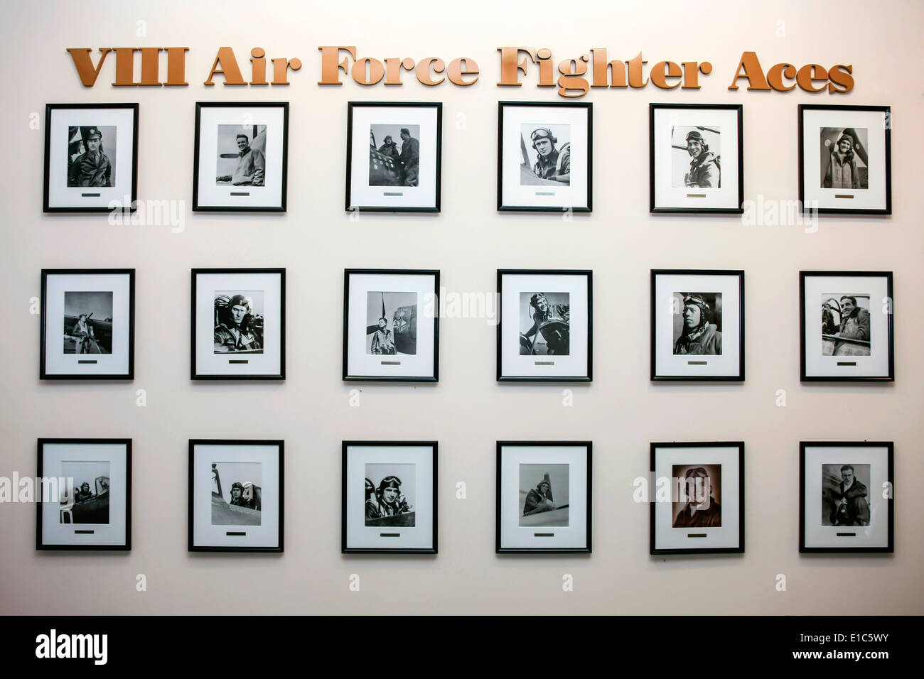 Honoring the Eighth exhibit at the Mighty Eighth AF Museum in Pooer GA - Stock Image