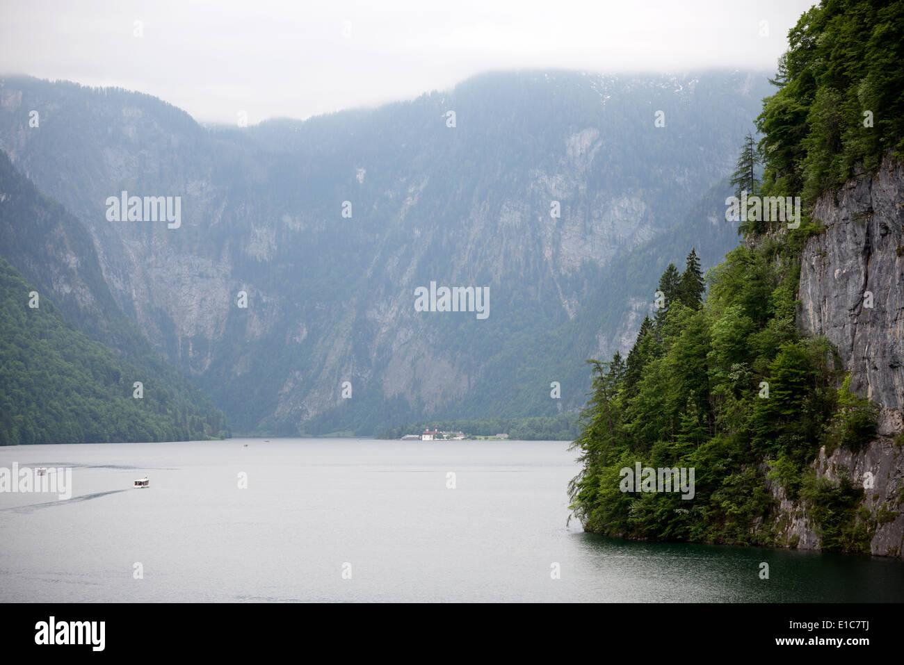 Konigssee (inland lake) Bavaria, Germany. - Stock Image