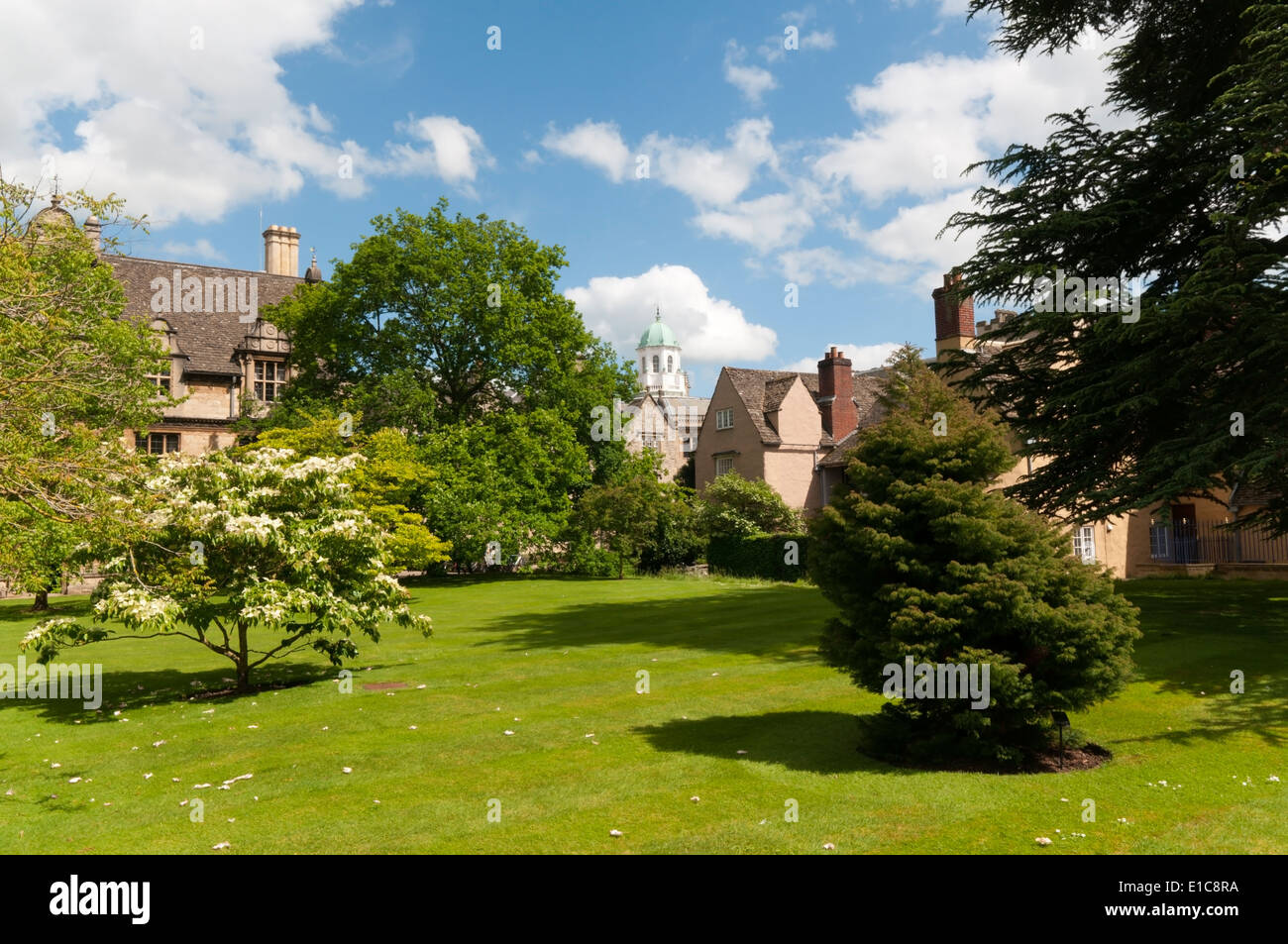 The Front Quadrangle of Trinity College in Oxford, England. - Stock Image
