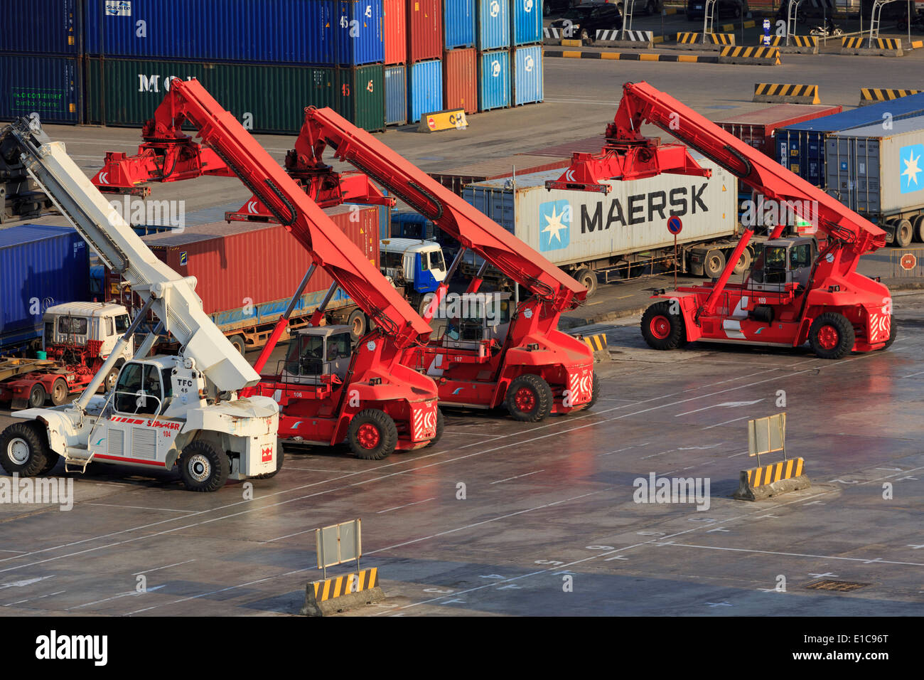 Container Port,Sihanoukville Port, Sihanouk Province, Cambodia, Asia - Stock Image