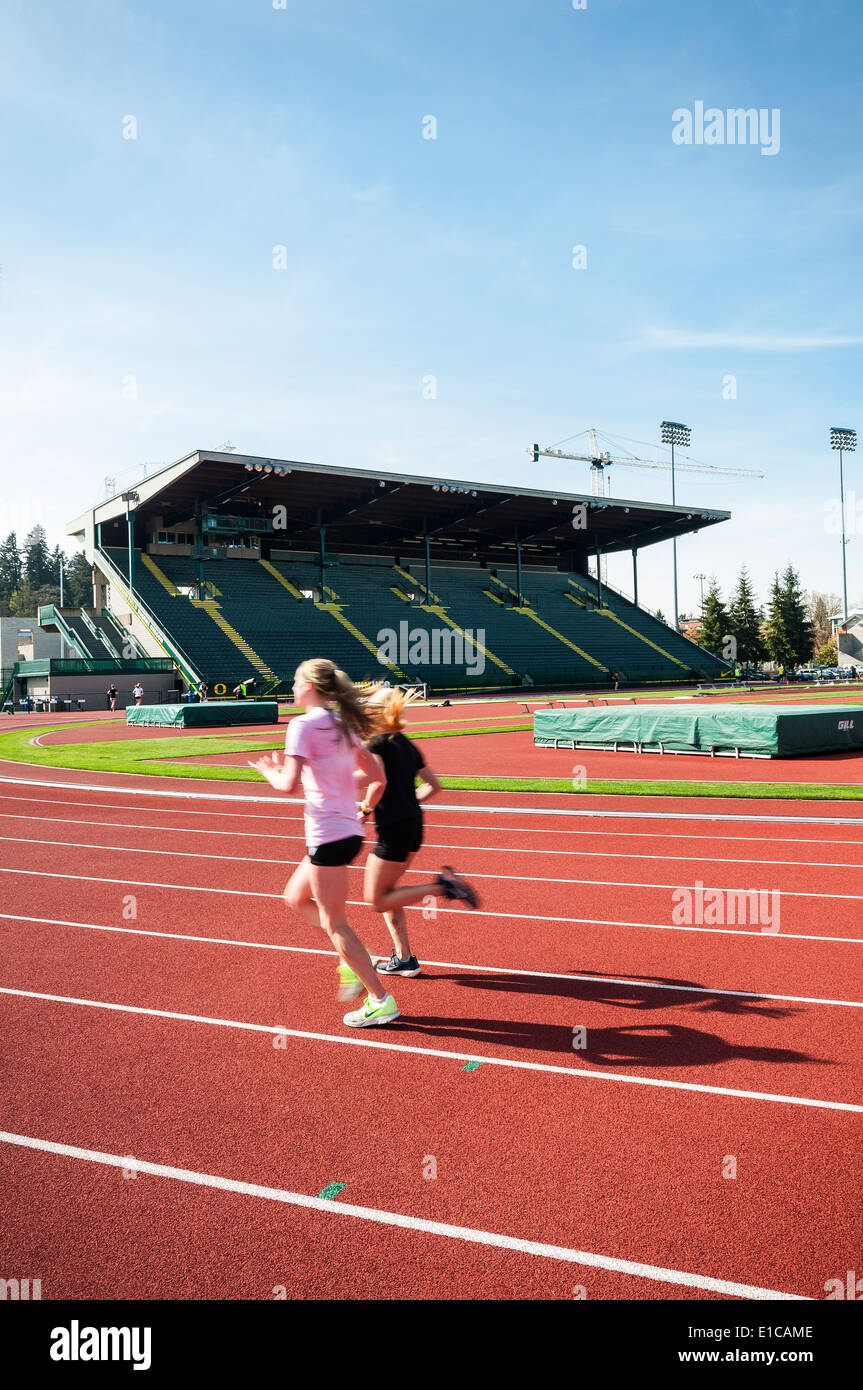 University of Oregon in Eugene - track and field stadium - Hayward Field - Stock Image