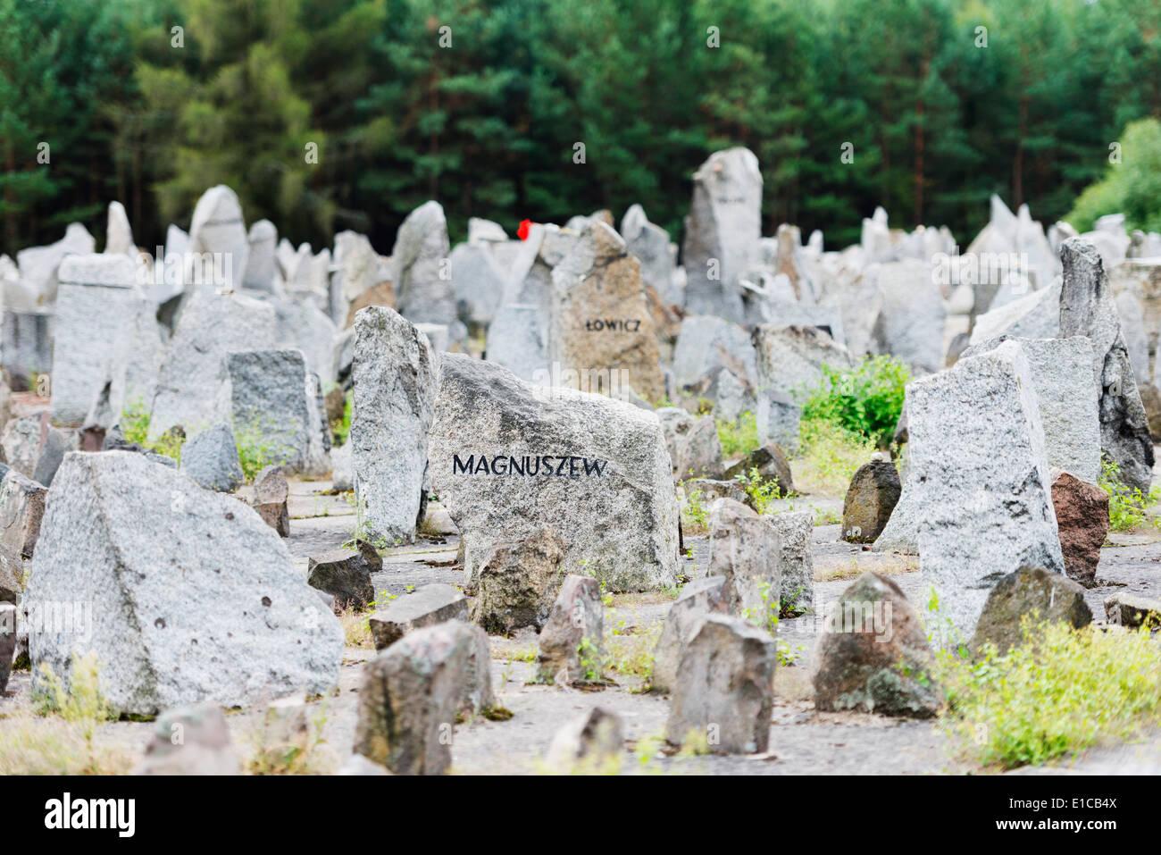 Europe, Poland, Treblinka extermination camp, World War II memorial site - Stock Image