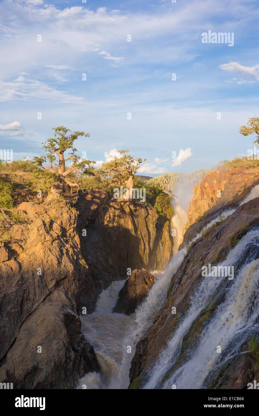 Epupa Falls at dusk - Stock Image