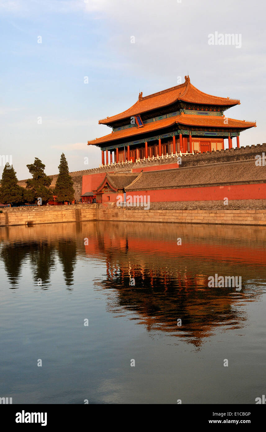 Shenwumen gate of The Forbidden city Beijing China - Stock Image