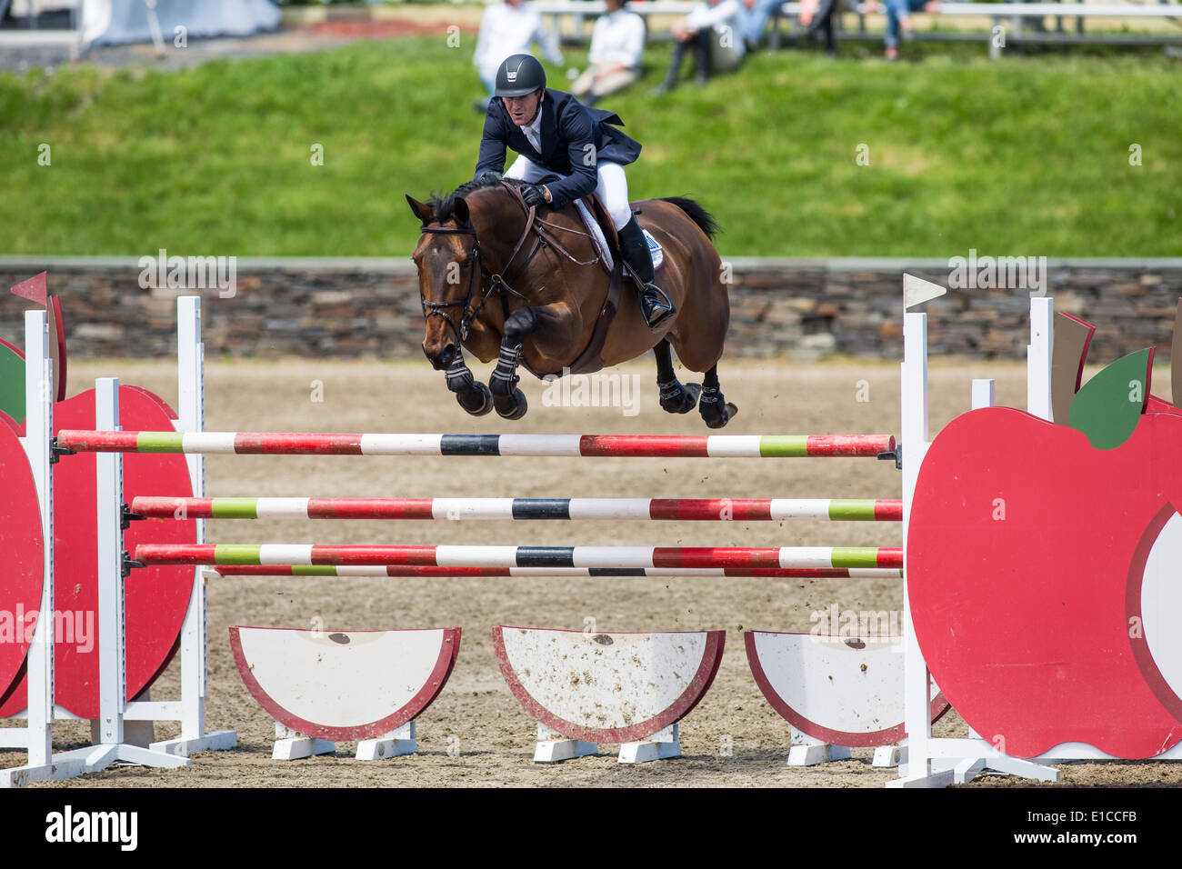 HITS on the Hudson Show Jumping, Saugerties, NY - Stock Image