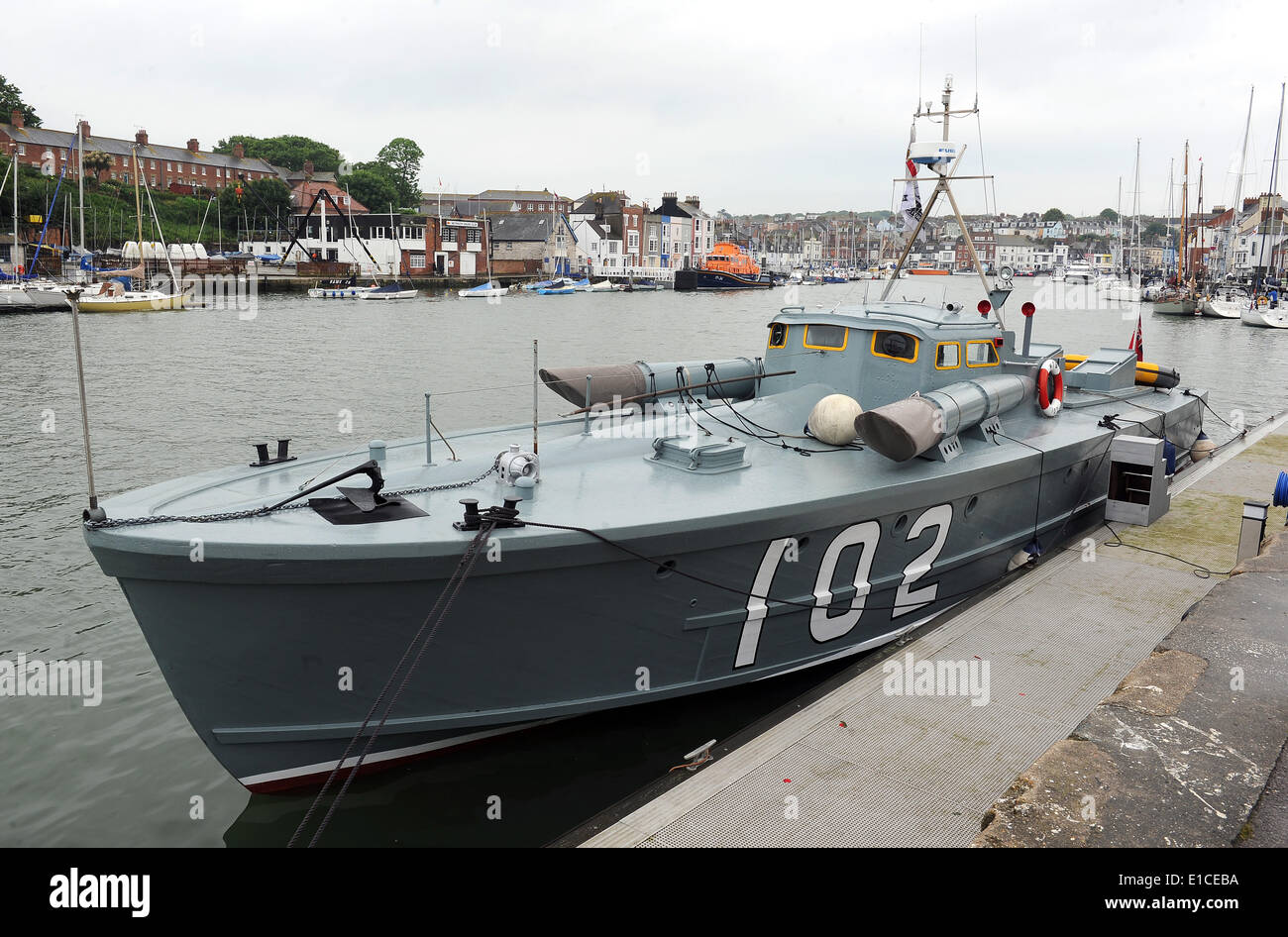 Motor Torpedo Boat, MTB-102, World War 2 Motor Torpedo Boat Stock Photo
