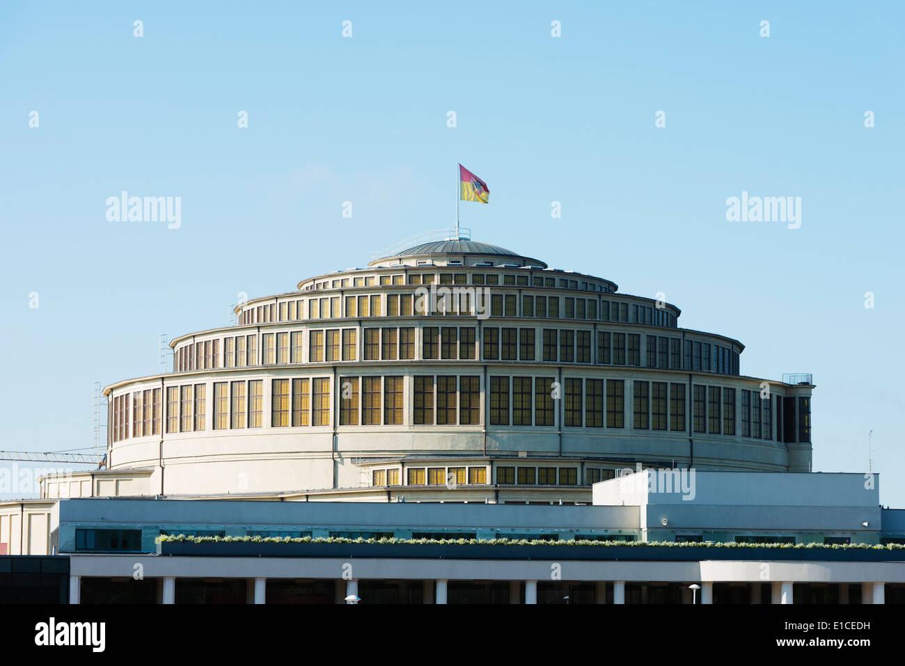 Europe, Poland, Silesia, Wroclaw, Centennial Hall, Unesco - Stock Image