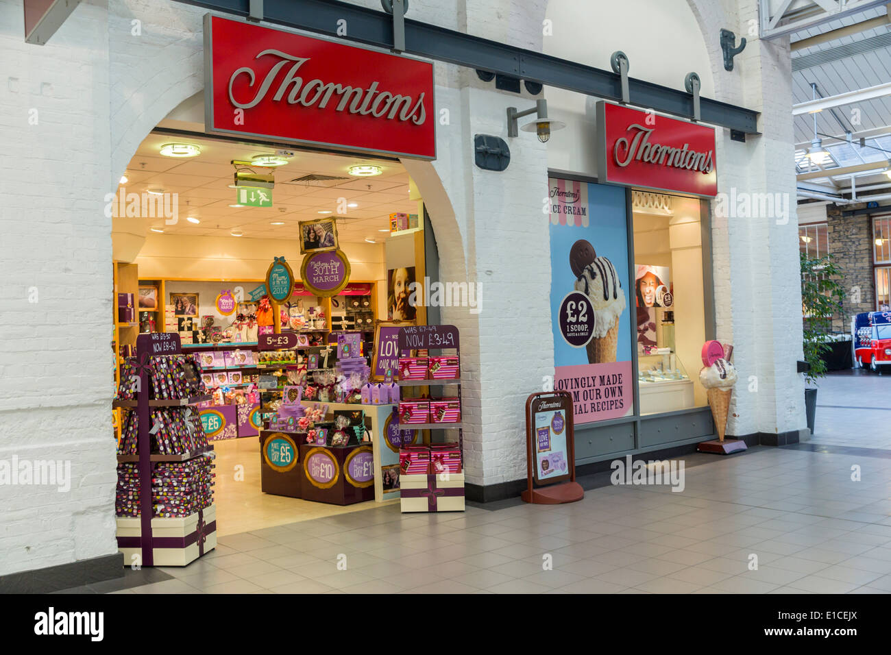 Thorntons Chocolate shop indoors - Stock Image