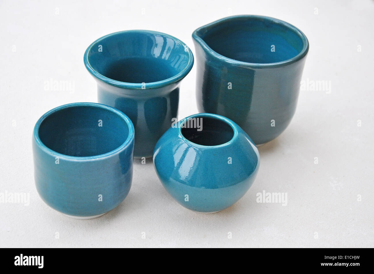 hand made pottery - Stock Image