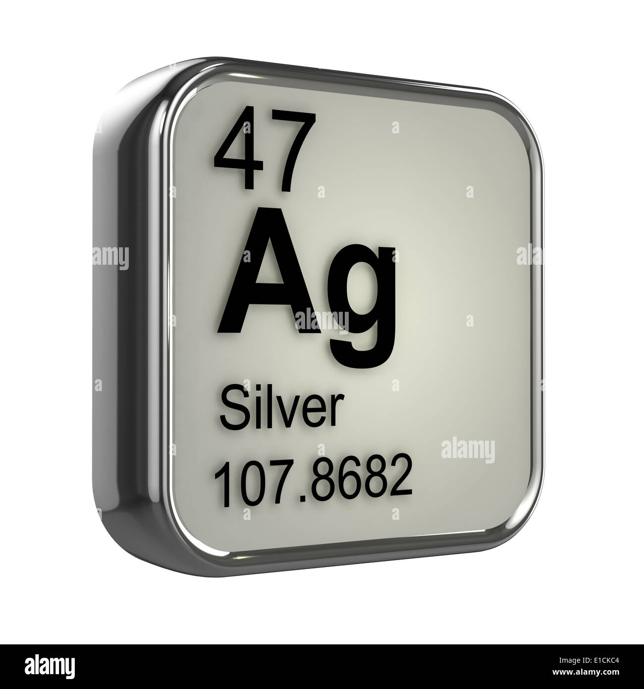 3d Periodic Table Design For Silver Stock Photo 69734788 Alamy