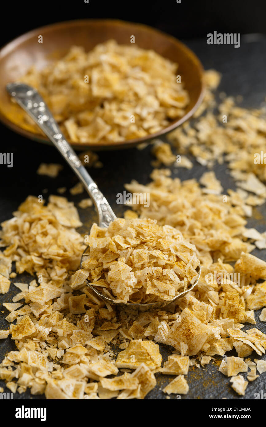 spicy sea salt flakes from Cyprus - Stock Image