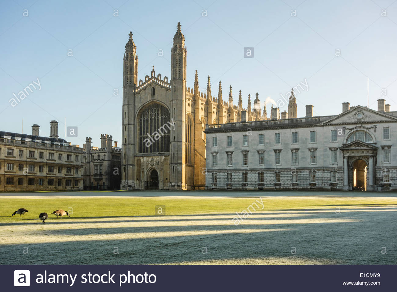 King's College, Cambridge on a frosty spring morning - Stock Image