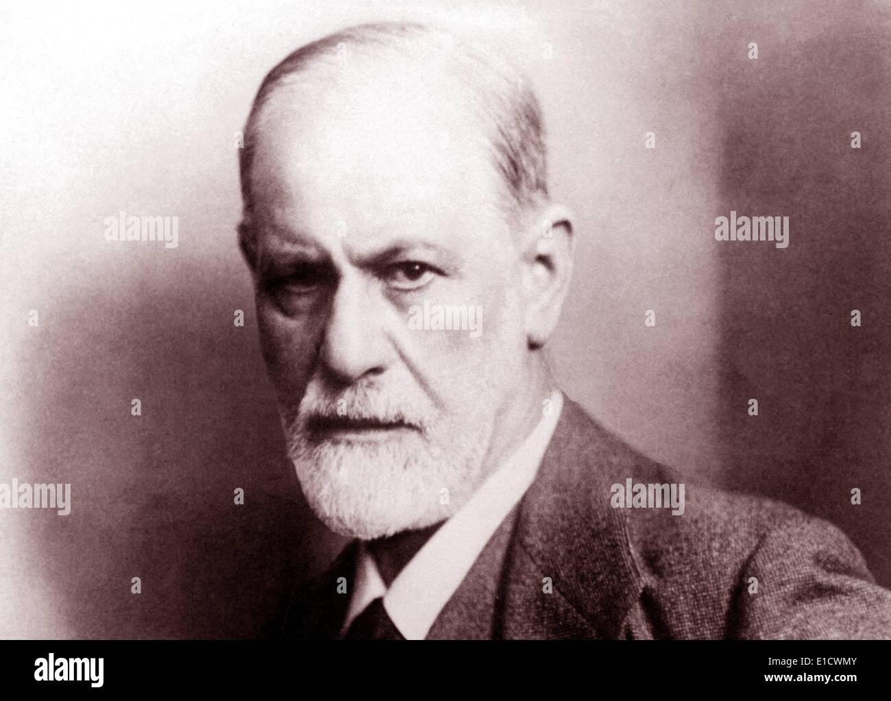 Sigmund Freud (1856-1939). Austrian neurologist, known as the founding father of psychoanalysis circa 1922 - Stock Image