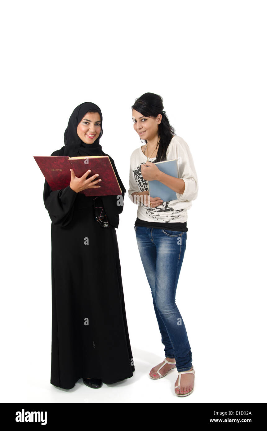Arab Female Students Stock Photo