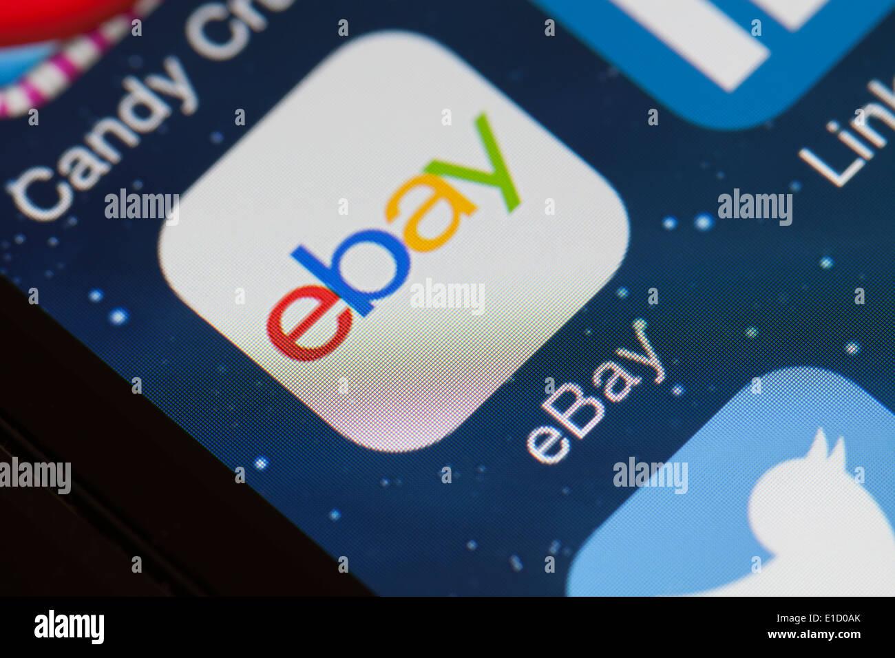 Ebay App Icon On Mobile Phone Stock Photo Alamy